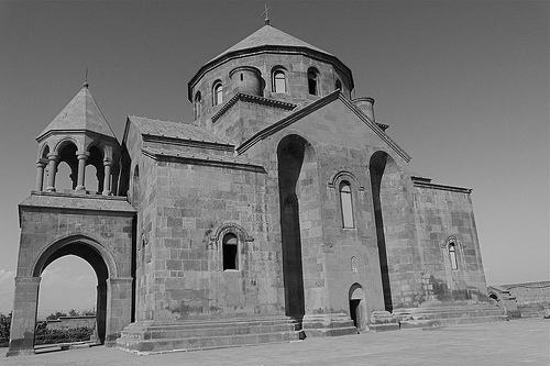 St. Hripsime Church in Echmiadzin completed in 618, is one of the oldest surviving churches in Armenia, but in 2009, Armenian identity goes beyond religion. Creative Commons/ by Rita Willaert
