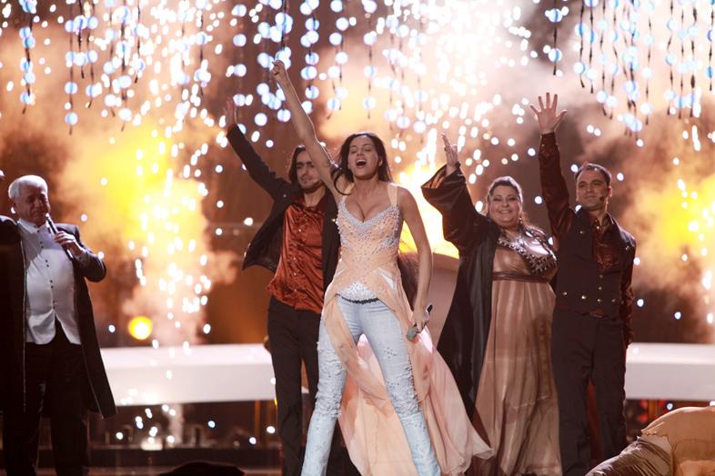 Eva Rivas at the 2010 Eurovision Finals in Oslo.