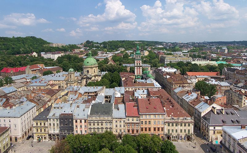 Downtown Lviv (Ukraine)/Wikimedia Commons