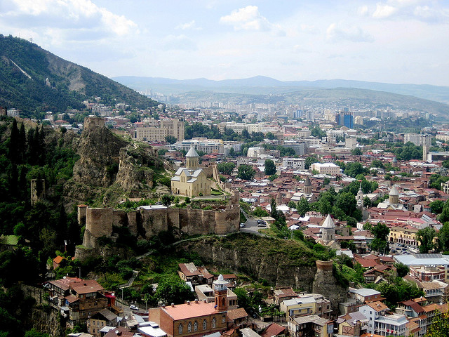 A citywide view of Tbilisi, Georgia's capital/Creative Commons/by Ninukala