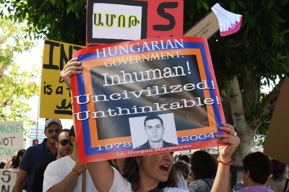 Armenian-Americans protest Safarov's pardon in Los Angeles/ © ianyanmag