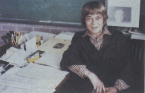1978-At her desk at the Institute of Astronomy in Mexico